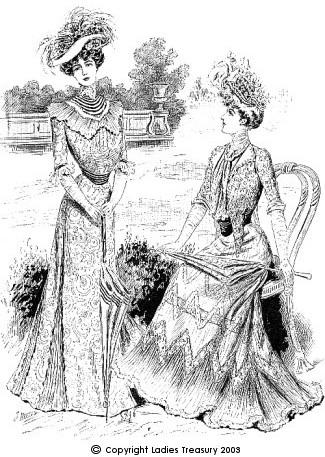 Ladies's Dress, c1900.
